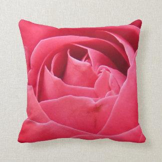 🌸 Rose quartz Deep  Pink rose petal pillow Cushions