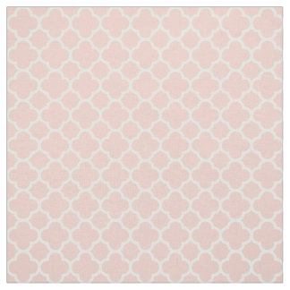Rose Quartz Pink Coral 2016 Quatrefoil Pattern Fabric
