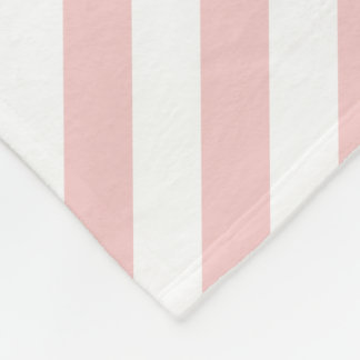 Rose Quartz Pink Striped Fleece Blanket