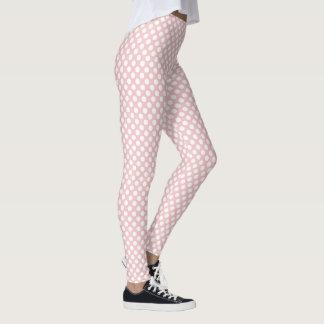 Rose Quartz Polka Dots Leggings