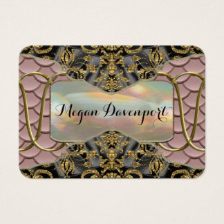 Rose Quartz Scale Elegance Pattern Business Card