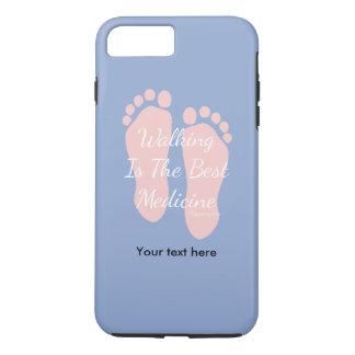 Rose Quartz Serinity Hippocrates Walking Quote iPhone 8 Plus/7 Plus Case