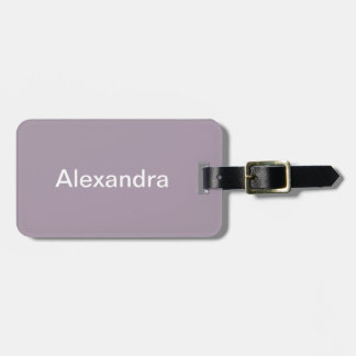 Rose Quartz Solid Color Luggage Tag