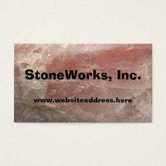 Rose Quartz Stone, Business Card Template
