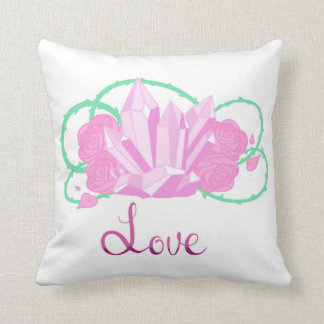 "Rose Quartz Throw Pillow 16""x16"""