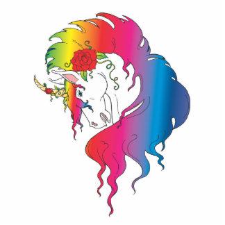 rose rainbow unicorn photo sculptures