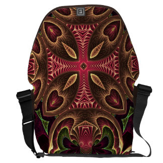 Rose Red Cross - Kaleidoscope Abstract Design Courier Bag
