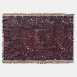 Rose Red Fire Stone I Throw Blanket