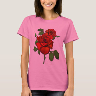 Rose Red Illustration T-Shirt