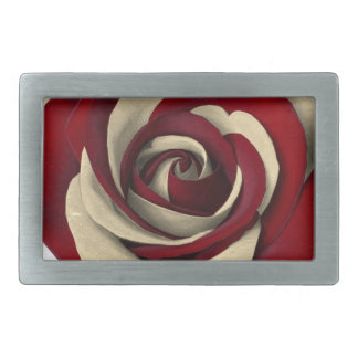 Rose Red Rectangular Belt Buckle