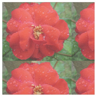 Rose Red Water Bloom Fabric