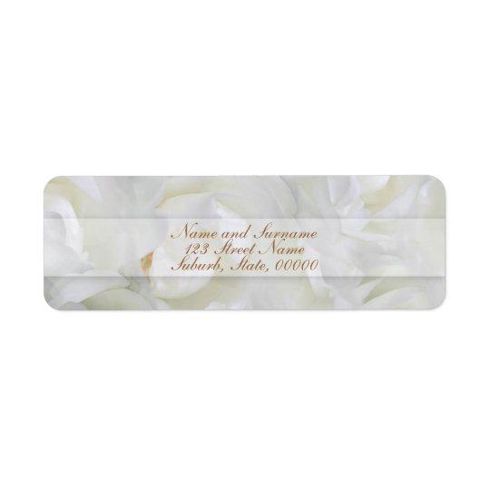 Rose return address label customisable tag