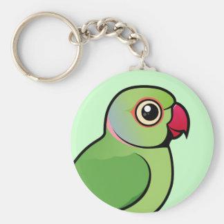 Rose-ringed Parakeet Key Ring