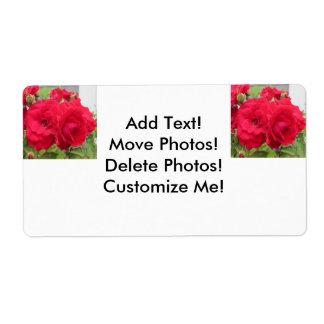 Rose Rouge Fleur Shipping Label