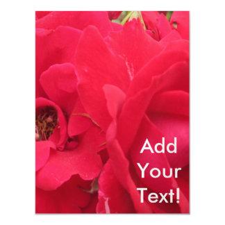 Rose Rouge Fleur Magnetic Invitations