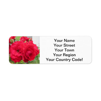 Rose Rouge Fleur Return Address Label
