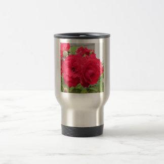 Rose Rouge Fleur Travel Mug