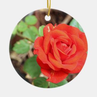 rose round ceramic decoration