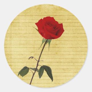 Rose Round Stickers
