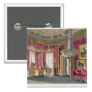 Rose Satin Drawing Room second view Carlton Hous Pinback Button