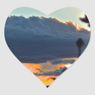 rose shadow sunset heart stickers