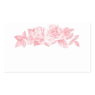 Rose Sketch Place Cards in Pink Pack Of Standard Business Cards