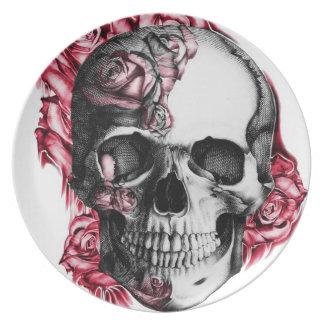 Rose Skull Plate