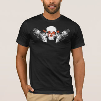 Rose Skull with Wings 2 T-Shirt