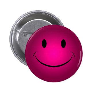 Rose Smiley Face Button