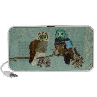 Rose Smokey Owl & Olive Owl Doodle Speaker