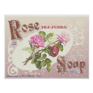 Rose Soap- distressed Poster