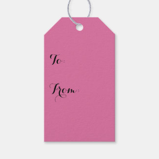 Rose Solid Color Gift Tags