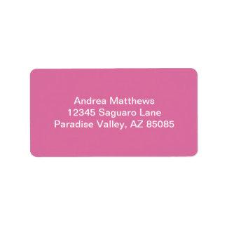 Rose Solid Color Label