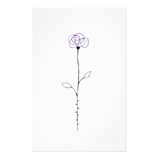 rose stationery paper