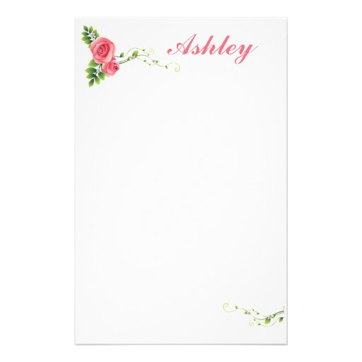 Rose Custom Stationery