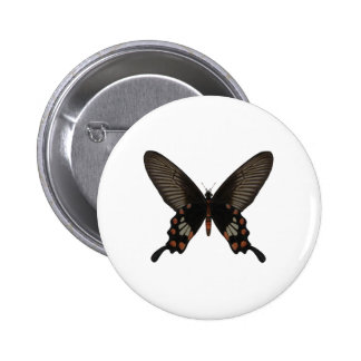 Rose Swallow Tail Butterfly Button