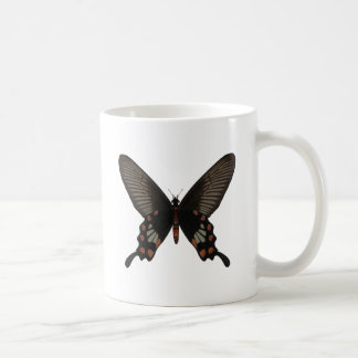 Rose Swallow Tail Butterfly Basic White Mug