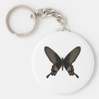 Rose Swallow Tail Butterfly Keychain