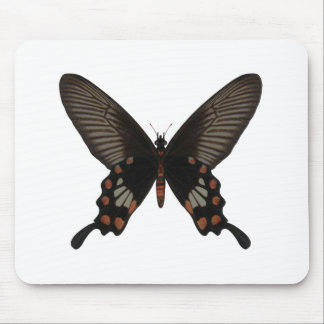 Rose Swallow Tail Butterfly Mouse Pad