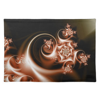 Rose swirl placemat