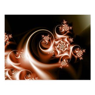 Rose swirl postcard