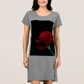 Rose t-shirt dress