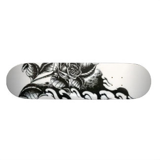 Rose-tattoo 21.3 Cm Mini Skateboard Deck