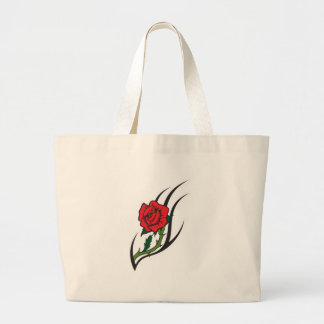 Rose Tattoo Design Jumbo Tote Bag