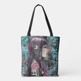 Rose Tattoo Fantasy Art Tote Bag