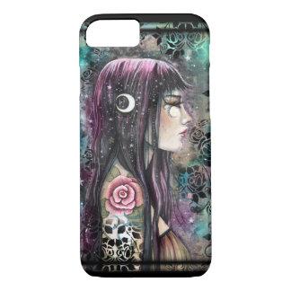 Rose Tattoo Gothic Bohemian Girl Fantasy Art iPhone 8/7 Case