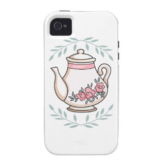 ROSE TEAPOT AND LEAVE VIBE iPhone 4 CASES