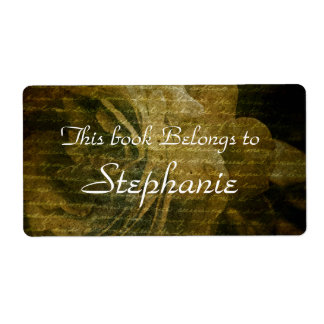 rose texture bookplate shipping label