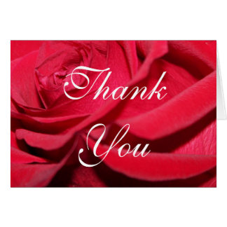 Rose Thank You Notes Note Card