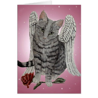 Rose, the Angel Cat Card